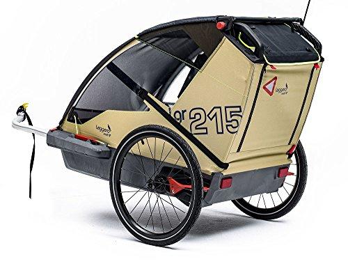 Leggero Vento R Kinderanhänger, Farbe:surf, Ausstattung:Pure (Fahrradset)