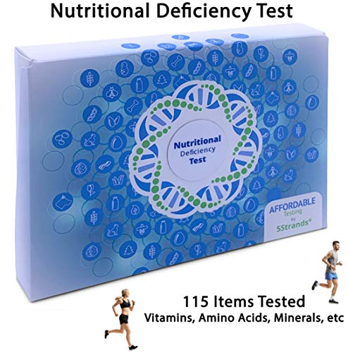 5Strands | Nutritional Deficiency Test | Affordable Testing | at Home Hair Analysis Kit | Tests 80 Nutritional Deficiencies | Key Vitamins, Minerals, Amino Acids | Results 7-10 Days
