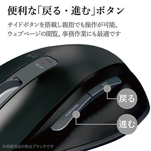 『エレコム マウス ワイヤレス (レシーバー付属) Sサイズ 小型 5ボタン (戻る・進むボタン搭載) BlueLED 握りの極み ホワイト M-XGS10DBWH』の11枚目の画像