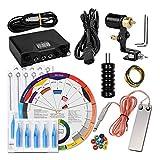 Ocamo - Juego de accesorios para máquina de tatuaje de color negro, set de accesorios para tatuar, cinta de goma, aguja, color de la rueda