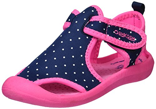 OshKosh B'Gosh Girl's Aquatic Water Shoe, Navy/Pink, 7 M US Toddler