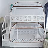XGYUII Studentenjurt-Moskitonetze Bettüberdachungs-Etagenbett-Zelt-Bett DREI offene Tür freie Installation Reißverschluss-Moskitonetz-Repellant-Insekten-Knall Oben,A,150 * 195cm