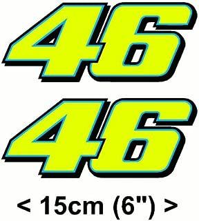 Valentino Rossi Sticker FLUORESCENT YELLOW 46 (2013) vinyl 6