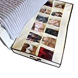 Shonpy Men/Adults 12 Cells See Through Underbed Shoe Storage Bag Organizer, Beige