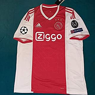 3f74da6892448 BROOK AJAX Amsterdam Home Champion League Soccer Jersey 2018-2019 Full UCL.  Patch