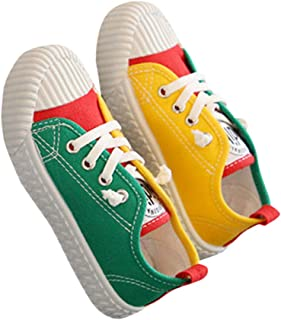 Hopscotch Candy Baby Baby Boys Canvas Lace Up Sneakers in Green Color