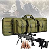 YUnZhonghe Bolso de doble rifle, mochila de Airsoft con protección de relleno central, caza de caza, funda de transporte de arma de fuego, bolsa de armas a prueba de agua para pistola de almacenamient