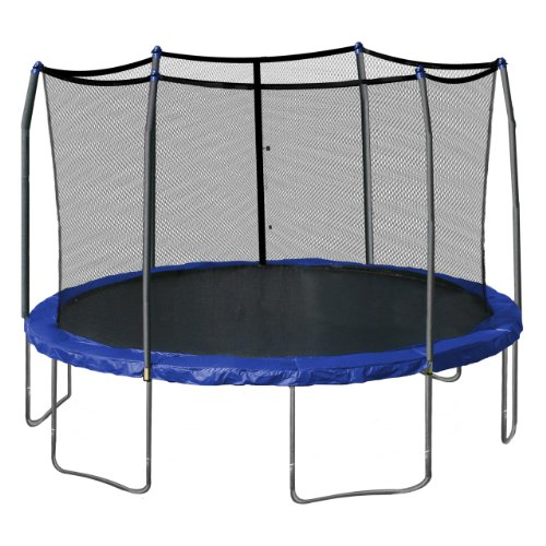 Skywalker Trampolines Round Trampoline and Enclosure with Camo Spring Pad, 15 Feet