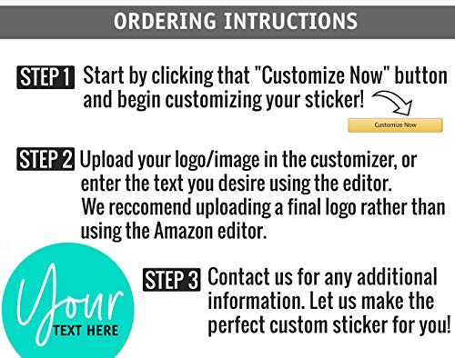 100 Custom Round Stickers, Round Personalized Stickers, 100 3'' x3'' Logo Stickers , Customized Stickers Labels , Customizable Stickers Stickers for Business Custom Made Stickers, Made in USA Photo #4