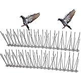 Bird-Away Flexible Stainlcss-Pinchos de Acero con Base plóstica, 20 pies Caverage 12 Barrera para pájaros pequeños (1,5 m (3 Tiras)) esterilización de Insectos, Plata, 5feet(3 Strips)