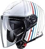 Casco Caberg Flyon Bakari Blanco/Plateado/BMW Colors L