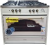Cocina de gas Meireles G914 CR, 5 quemadores, Wok, color Crema