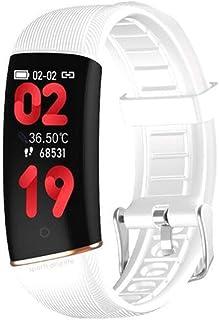 Pulsera Inteligente Termometría Smartband Fitness Traker Bluetooth Deporte Impermeable Banda Inteligente Monitoreo del Sueño Con Monitor de Frecuencia Cardíaca Contador de Paso Para Android iOS