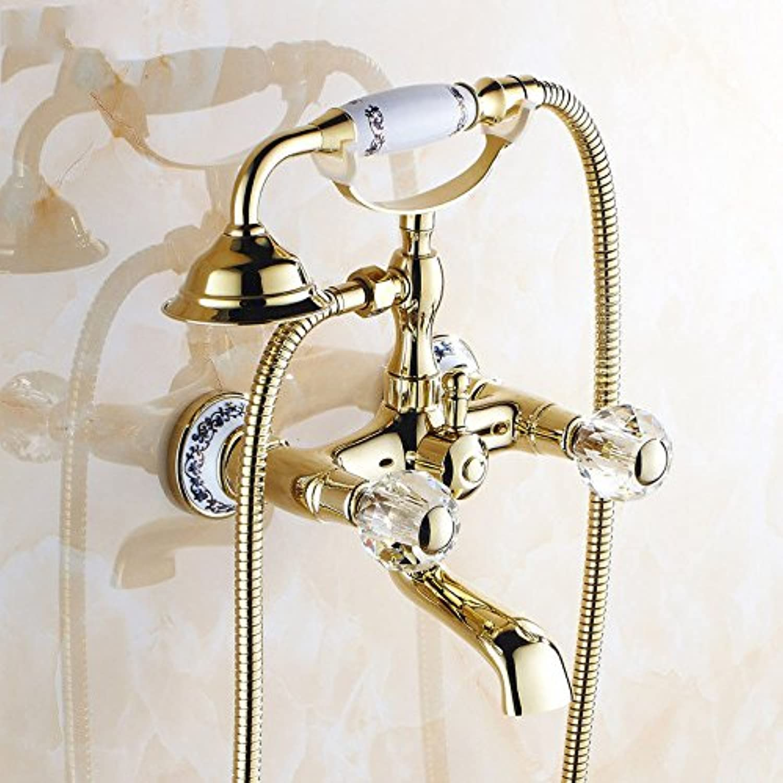 ETERNAL QUALITY Bathroom Sink Basin Tap Brass Mixer Tap Washroom Mixer Faucet The copper bath tub shower faucet rain shower set H Kitchen Sink Taps