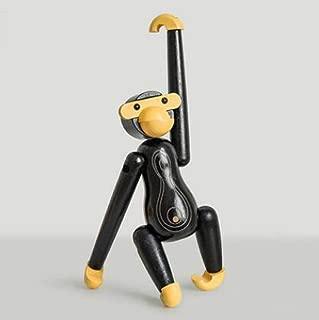 ANARUTO Doll Monkey Statue Danish Solid Wood Monkey Animal Puppet Ornaments Living Room Racks Cute Decorations Sculpture Kids Gift