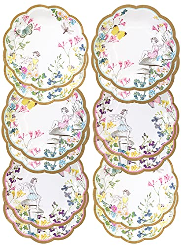Talking Tables Tsfairy Truly Fairy Scallop Edge Plates, Multicolor