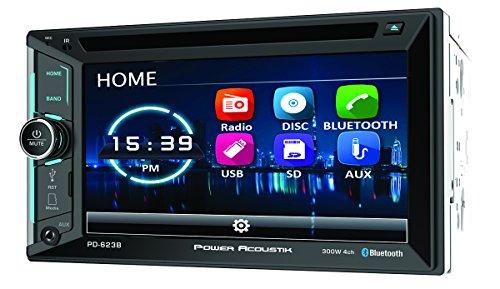 Power ACOUSTIK PD-623B 2-DIN DVD, CD/MP3, AM/FM Receiver 2/6.2' LCD & Bluetooth 4.0, Black