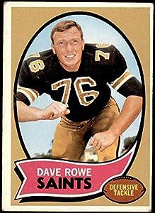 1970 Topps # 101 Dave Rowe New Orleans Saints (Football Card) FAIR Saints Penn St