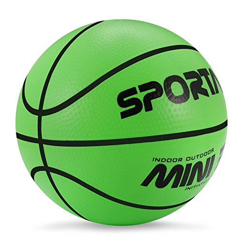 Mini-Basketball, Schwimmbad-Basketball,Kinder-Basketball,12,7cm Durchmesser,weich und federnd, grün