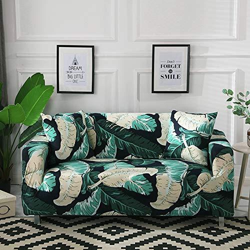 ASCV rutschfeste Couch Schonbezug Universal Spandex Case für Stretch Sofabezug Elastizität Sofabezug für Wohnzimmer A9 2-Sitzer