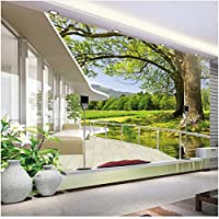 Xbwy 装飾壁画バルコニー自然風景壁画壁紙リビングルームテレビソファ背景壁の装飾壁画-150X120Cm