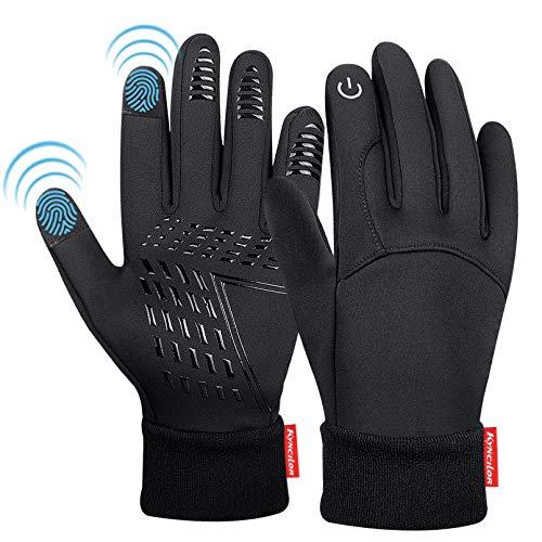 KEZKALS Handschuhe Herren Touchscreen - Geschenke für Männer, Outdoor FahrradhandschuheHandschuhe Damen, Adventskalender Männer 2020 zum Befüllen, Winter WarmSporthandschuheWinddicht rutschfest