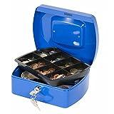 Q-Connect KF02623 - Caja fuerte (20,3 cm), color azul