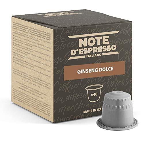 Note d'Espresso - Ginseng Dolce - Cápsulas compatibles con Cafeteras NESPRESSO* - 40 caps
