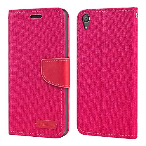 Capa para Sony Xperia XA1 Plus, capa carteira de couro Oxford com capa traseira magnética de TPU macio para Sony Xperia XA1 Plus