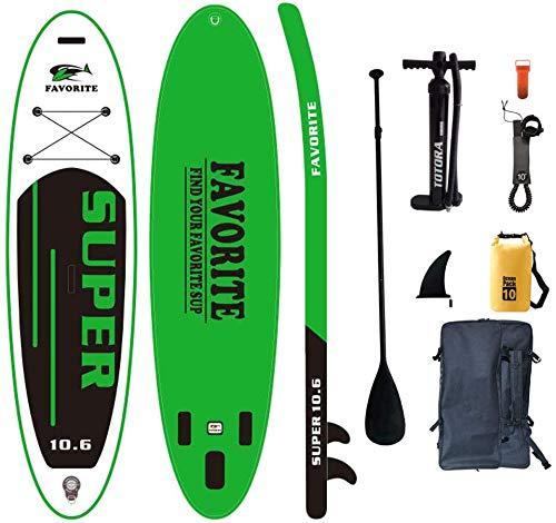 SHENGXUAN Stand Up Paddle Board Aufblasbares für Anfänger, 320 x 81 x 15 cm Yoga SUP Paddle Board Allround Surfbrett Paddle Board, Surfbrett Komplettes, Surfen, Kanufahren, Angeln, Pilates,F