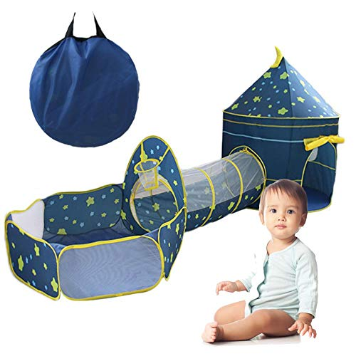 Staunchow Kids Play Tent Indoor Outdoor Toddler Toys Children, Kids Pop up Play Tents Crawl Tunnels, Playhouses Castle Teepee