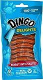 Dingo Delights, 100% Rawhide Free Treat, Chicken, 9-Count