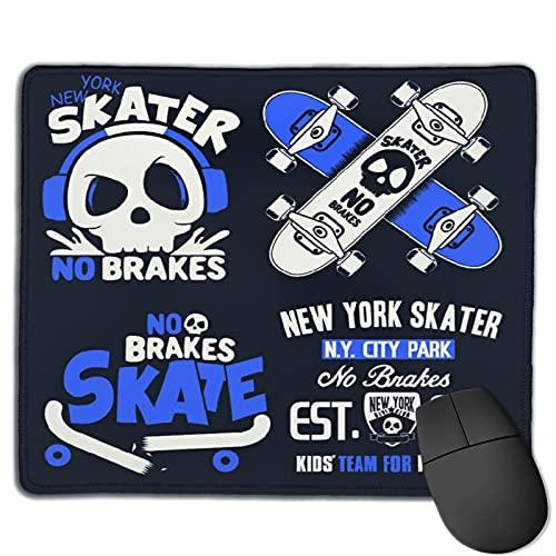 Benutzerdefinierte Office-Mauspad,Skateboard-Grafiken, Anti-Rutsch-Gummibasis Gaming Mouse Pad Mat Desk Decor 9.5