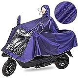 IBLUELOVER Unisex Poncho Outdoors Bike/Ebike/Motorcycle/Scooter Cycling Jacket Raincoat Cape Purple