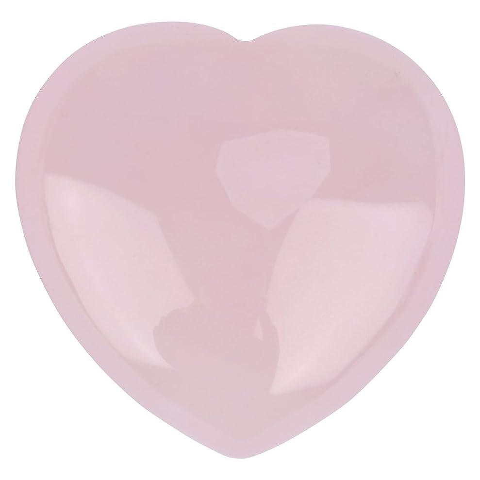 改革砂利屋内天然ハートシェイプローズクォーツストーン、装飾ピンククリスタルヒーリングストーン宝石ホームデコレーション