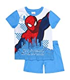 S p i d e r m a n Jungen Shorty Pyjama 3 Designs (128, Hellblau)