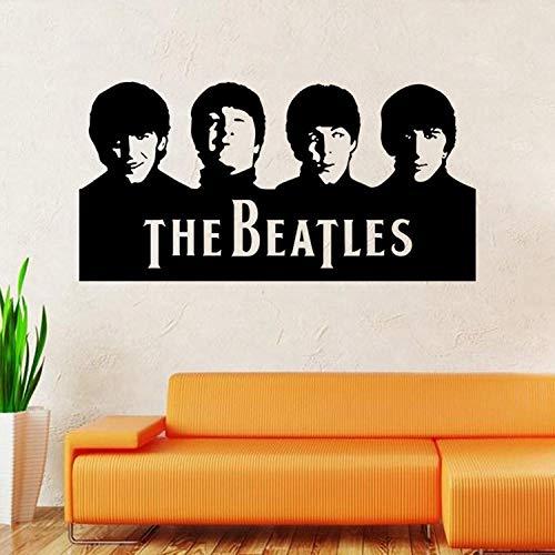 Huisdecoratie PVC Milieubescherming De Beatles Band Karakter Avatar Art Muurstickers Woonkamer Slaapkamer Decoratie Decal Type Grootte 57x29cm