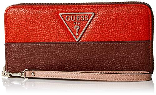 Guess Damen Aretha Large Zip Around Wallet Geldbörse, Lippenstift Multi, Einheitsgröße
