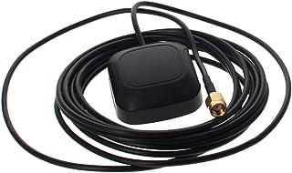 Othmro Antena activa GPS SMA macho codo interfaz 3M, 28dB LNA ganancia 1575.42MHz GPS antena activa señal más fuerte