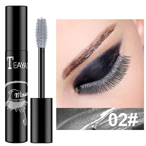 ZWL Rímel Pestañas Impermeables De Secado Rápido Rizado Alargamiento Maquillaje Pestañas para Ojos Rímel Azul Púrpura,02#