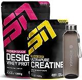 ESN Designer Whey 1000 g + ESN Ultrapure Creatin 500 g (Strawberry White Chocolate + Womanda Bottle)