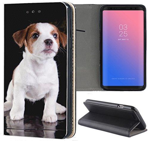 Samsung Galaxy S3 / S3 Neo Hülle Premium Smart Einseitig Flipcover Hülle Samsung S3 Neo Flip Hülle Handyhülle Samsung S3 Motiv (1534 Jack Russell Terrier Welpe H&)