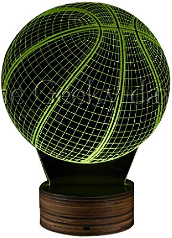 3D dekoratives Nachtlicht 3D Basketball-Nachtlampe 3D optische Tuschung LED-Licht, Basketball-Fans dekorative Beleuchtung leuchtende LED-Lampe Geschenk für Sportliebhaber moderne Wohnkultur Kunst Emo