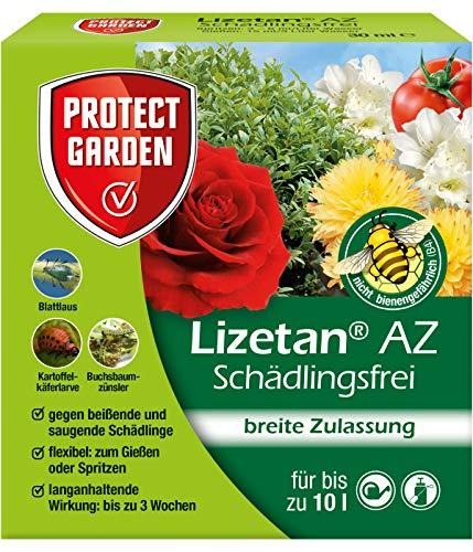 PROTECT GARDEN Lizetan AZ Schädlingsfrei (ehem. Bayer Garten), Konzentrat zur Insektenabwehr mit schneller Wirkung gegen Schädlinge an Zierpflanzen, Rosen und Gemüse, 30 ml