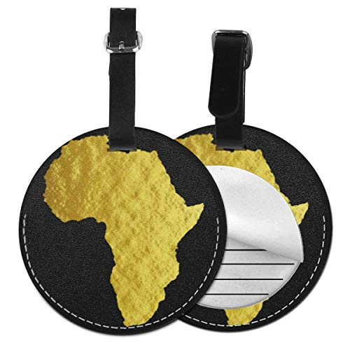 Luggage Tags Map Black Pride Melanin Suitcase Luggage Tags Business Card Holder Travel ID Bag Tag