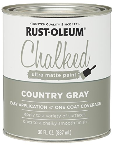 Rust-Oleum 285141 Ultra Matte Interior Chalked Paint 30 oz,  Country Gray