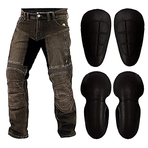 WinNet Jeans da Moto con Inserti in Kevlar Anti Abrasione da Uomo