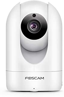 Foscam Full HD 1080P WiFi IP Camera, 2MP Indoor Pan/Tilt Home Security Surveillance Camera Night Vision, Two-Way Audio, Motion/Sound Detection, Free Image/Video Cloud Service Available, R2C White