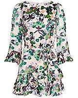 SALONI Women's Marissa Mini Dress, Geranium, Print, 12
