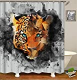 wywyet 3D Gedruckter Cartoon Abstract Animal Pattern Duschvorhang Wasserdichter Anti-Schimmel Badzubehör Duschvorhang Inkl 12 Duschvorhangringe,180cm×200cm